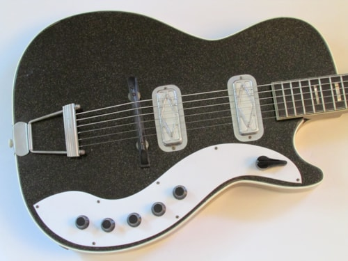 1959/60 Harmony Silvertone 1423 Jupiter Black Glitter Kasim Sulton Collection