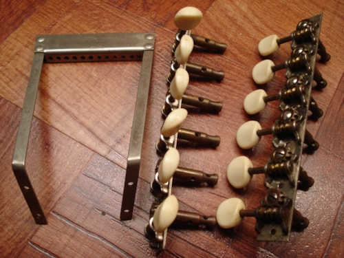 1930 Stella Regal 12 string Tuners / Tailpiece Nickel