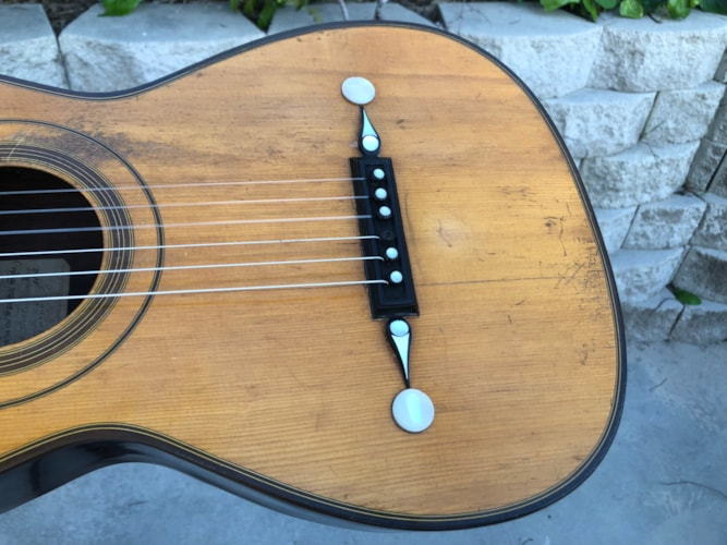 1837 Louis Panormo spanish style parlor guitar