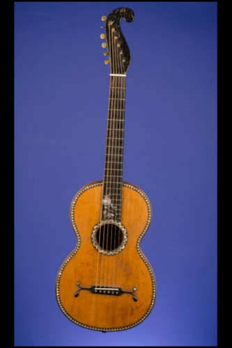 "1850 Markneukirchen ""Stauffer Style"" 12 fret to body with 'Triangular' Inlays Maple, Excellent, Hard"