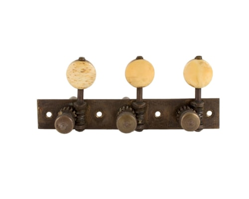 1870 WHITE 3 Per Side Tuners Very Good