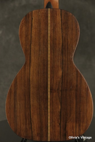 1870's J. HOWARD FOOTE acoustic Parlor guitar Brazilian Rosewood back + sides