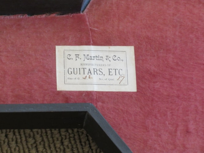 1893 Martin 2 1/2- 17  natural, Near Mint, Original Hard, Call For Price!