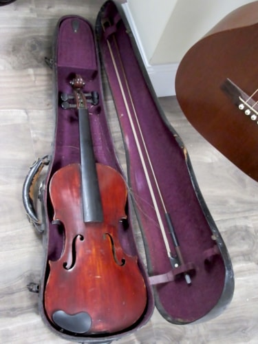 1900 No Label Violin 4/4 Stradivarius copy Natural finish, Excellent, Hard, $995.00