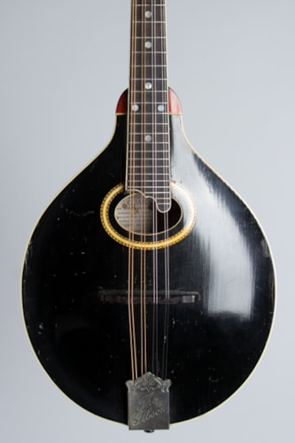 1913 Gibson A-4 black top, natural back and sides, Excellent, Original Hard,