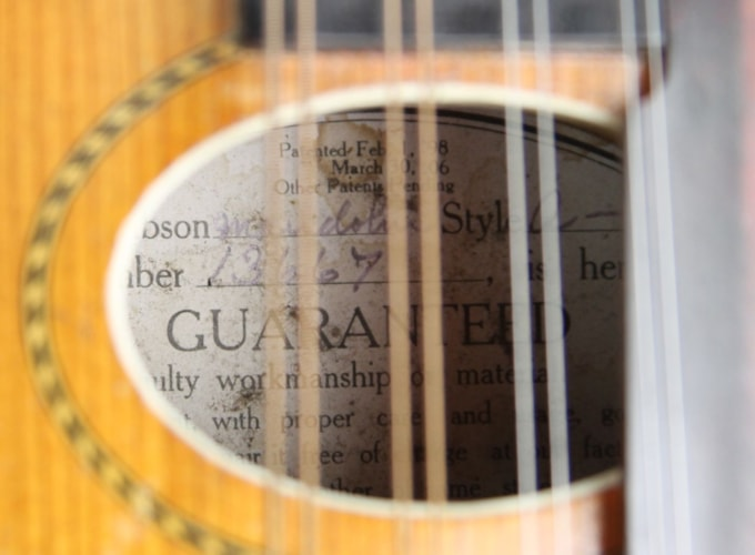 1913 Gibson Style A Mandolin Natural, Excellent, GigBag, $1,199.00