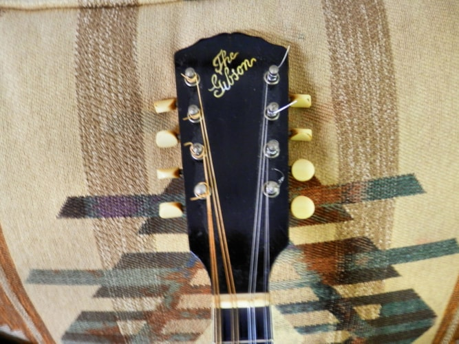 1914 Gibson A1 blond  natural, Near Mint, Original Hard, $1,595.00