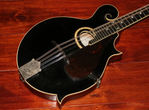 1914 Gibson F-2 (#GIA0677) Black, Very Good, Hard, $3,995.00