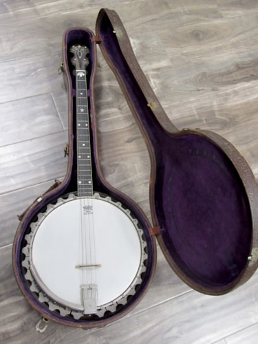 1920 Vega VEGAPHONE PROFESSIONAL TENOR BANJO Excellent, Original Hard