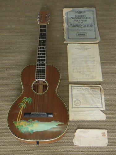 1926 Concertone (Regal) Palm Decal natural, Near Mint, Hard, Call For Price!