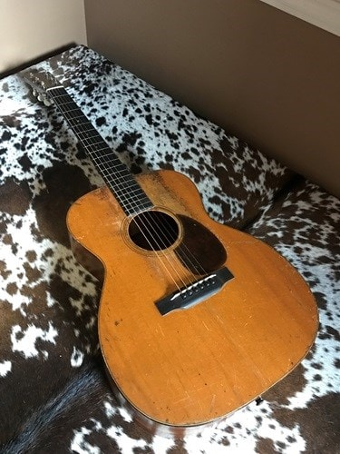 1931 Martin 0M-18 (banjo tuners and small guard)  Excellent, Hard, $19,000.00