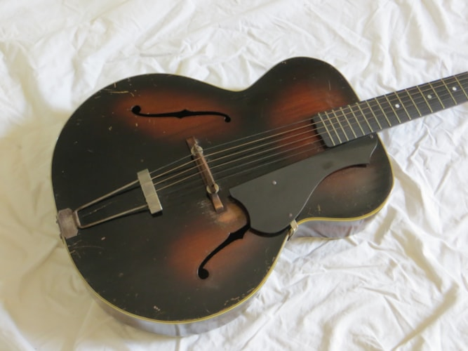 1935 Gretsch Model 35 sunburst, Very Good, Hard, Call For Price!