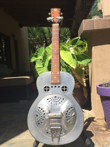 1935 National Guitar Co. DOBRO Fiddle Edge #32/35 Grey, Good, Hard, Call For Price!