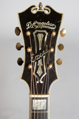 """1937 D'Angelico Excel Owned and played by Eddie Wilson """"The Vagabond Drifter sunburst lacquer, Very Good, Hard,"""
