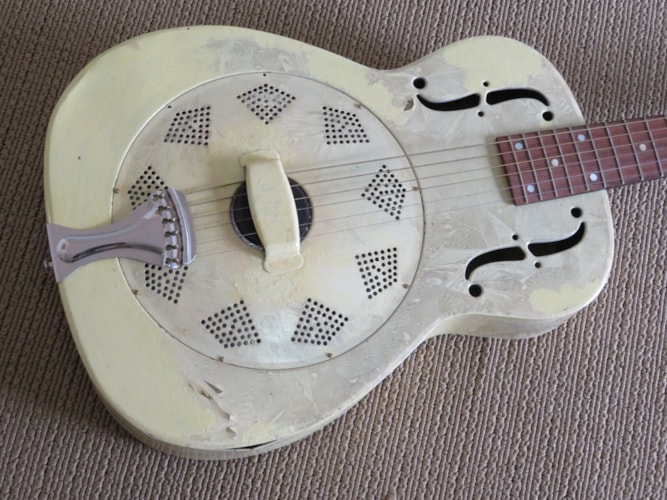 "1941 National  ""Silvertone""  Ivory Duco, Good, Hard, Call For Price!"