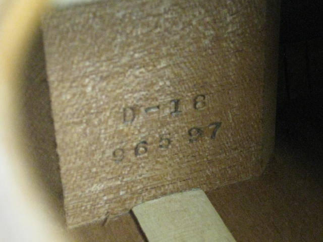 1946 Martin D-18 Mahogany Spruce, Very Good, Hard, $10,000.00