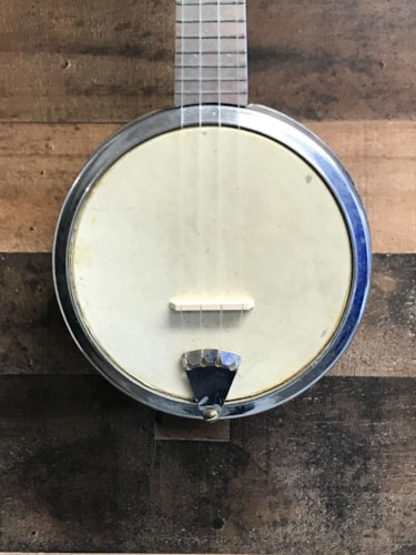 1950 Dixie Banjo Uke Cast Aluminum, Very Good