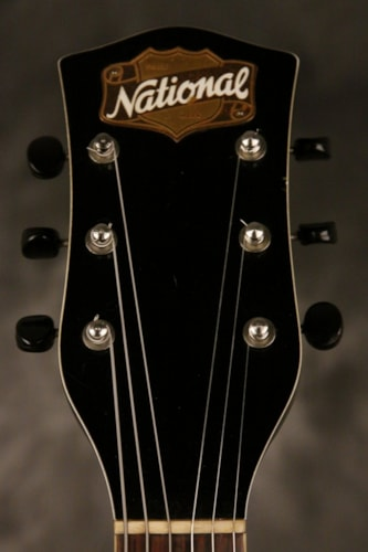 """1951 National California electric archtop FLAME MAPLE back/sides 17"""" body Blonde, Very Good"""