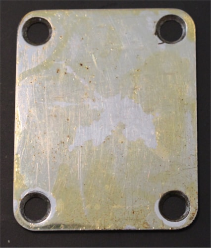 1952 Fender Early 50's Telecaster, Nocaster, Esquire Neck Plate  Nickel, Excellent