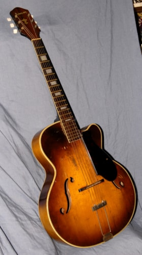 1952 Harmony H1310 Sunburst, Good, Soft