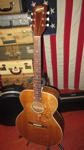 1952 National Model 1150 Flattop Acoustic Natural, Excellent, Hard, $1,795.00