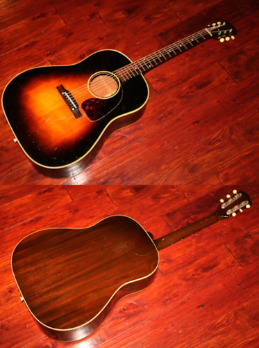 1953 Gibson J-45 Sunburst, Very Good, Hard