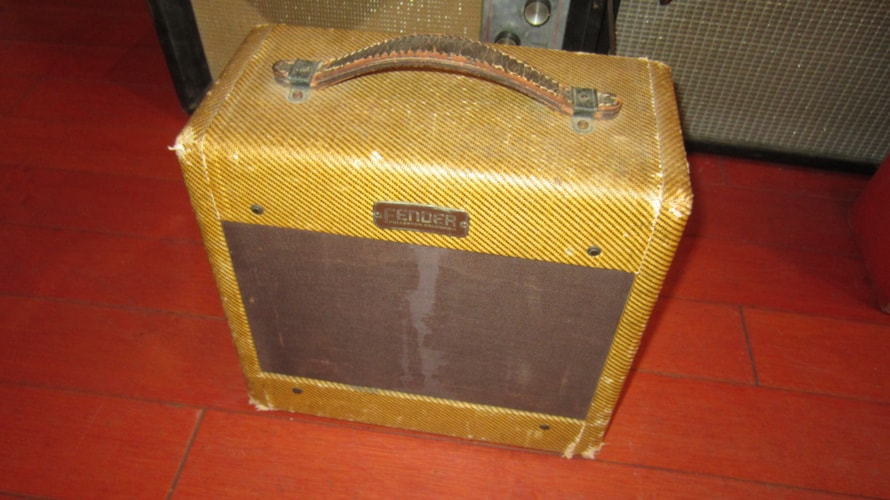 1954 Fender Tweed Champ Amp Tweed, Excellent