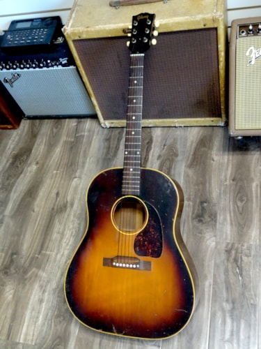 1954 Gibson J-45 Tobacco Burst, Excellent, Original Hard