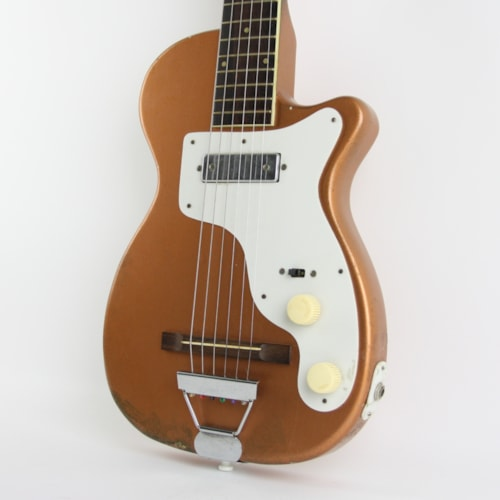 1954 Harmony H-44 Stratotone Copper Metallic, Very Good, Original Soft, $1,649.00
