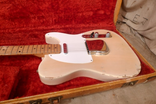 1955 Fender Telecaster Blond, Excellent, Original Hard, $22,000.00