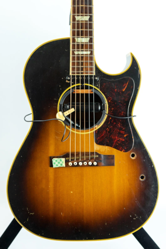 """1955 Gibson CF-100E """"Bob Dylan"""" Acoustic Guitar w/Case (Pre-Owned) (Glen Quan Private Collection)"""