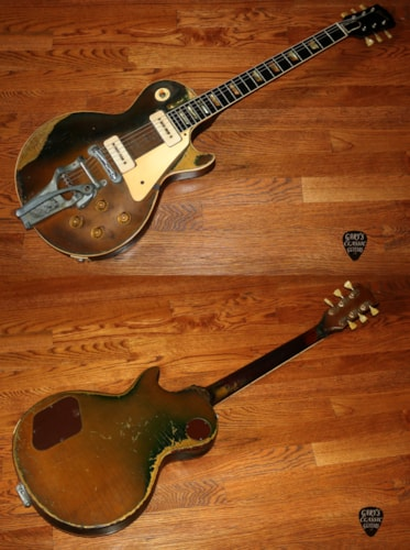 "1955  Gibson Les Paul  Goldtop ""All Gold"""