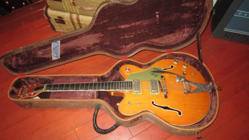 1955 Gretsch Hardshell Case for 6120 or similar hollow body guitar Two Tone Tweed