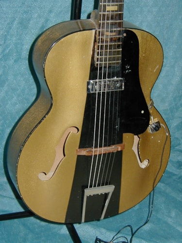 1955 Harmony H39 Hollywood Gold and Black, Good, Soft, $400.00