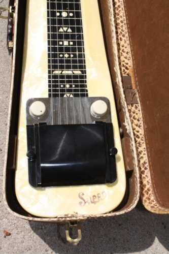 1955 Supro Comet White Mother of Pearl