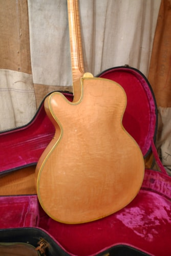1956 Epiphone Deluxe Electric Cutaway Blond, Excellent, Original Hard