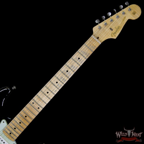 1956 Fender® Fender® Custom Shop 1956 Stratocaster® Heavy Relic® w/AA Flame Maple Neck Faded Black (1956 Reissue) Faded Black, Brand New, $3,199.00