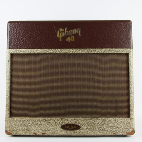1956 Gibson Les Paul GA-40 Amp Two Tone Brown, Very Good, $1,899.00