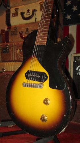 1956 Gibson Les Paul JR Junior Sunburst, Excellent, Original Soft, $6,495.00