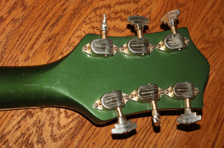 1956 Gretsch Country Club Cadillac Green, Excellent, Original Hard, $7,995.00