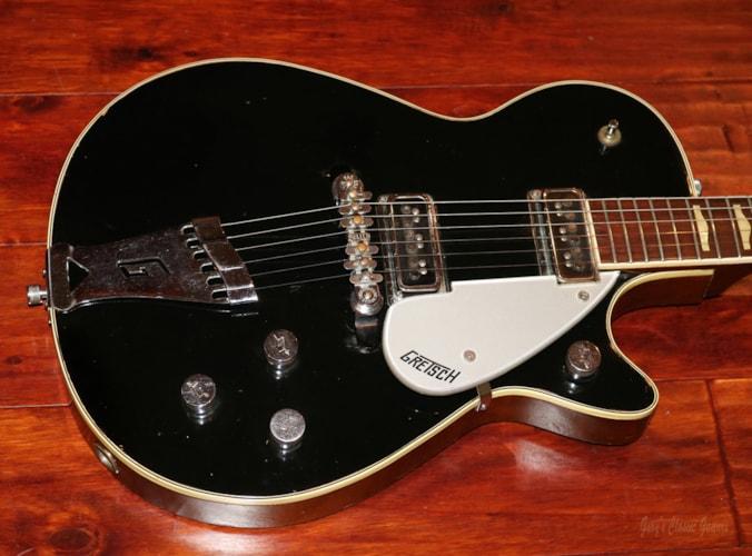 1956 Gretsch Duo Jet Black, Very Good, Original Hard