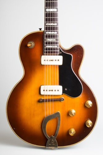 1956 Guild M-75 Aristocrat sunburst top, dark back and sides Excellent Original Hard $5,250.00