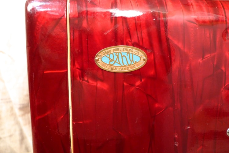1956 Oahu Tube Amp Red Pearloid, Excellent, $1,050.00
