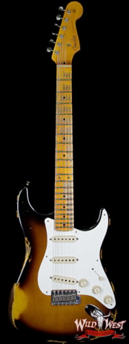 2019 Fender Custom Shop 1957 Stratocaster Heavy Relic Maple Neck (1957 reissue) 2 Tone Sunburst
