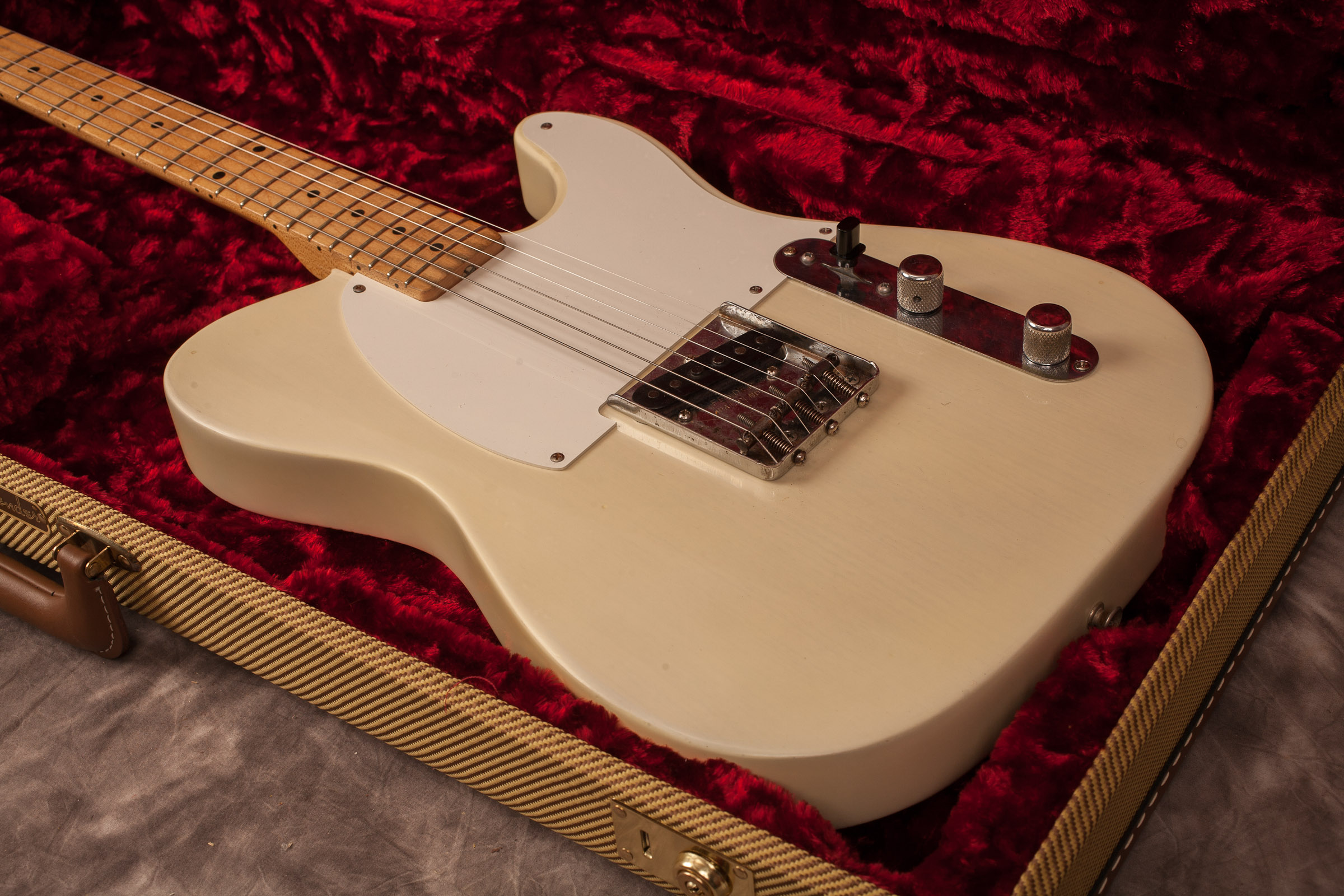 1957 Fender® Esquire Telecaster® Blonde, Excellent, Hard, $8,500 00