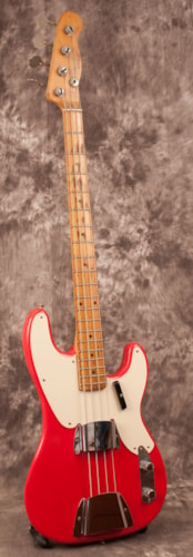 1957 Fender Precision Bass Fiesta Red, Excellent, Hard, $4,950.00