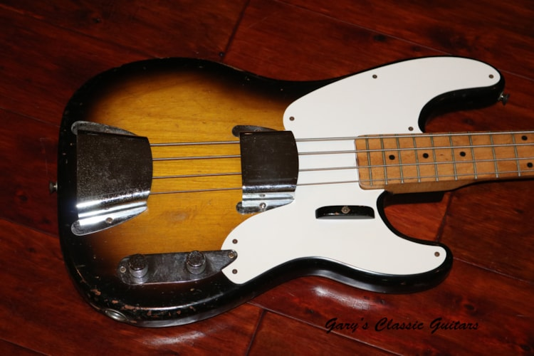 1957 Fender® Precision Bass® Sunburst, Very Good, Hard