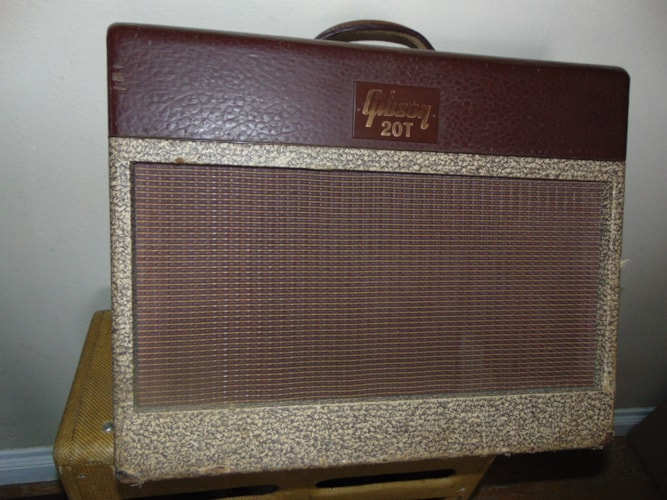 1957 Gibson GA 20 T Two Tone, Very Good, $1,200.00