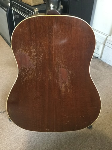 1957 Gibson J-45 Acoustic Guitar Tobacco Burst, Very Good, Hard