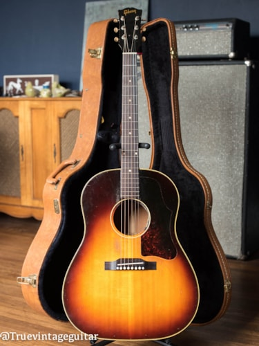 1957 Gibson J-45 Sunburst, Very Good, Hard
